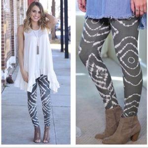 New▪️Tie Dye Gray Legging